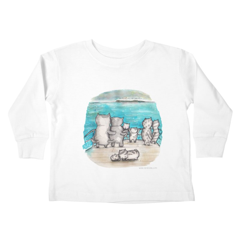 Welcome Refugees Kids Toddler Longsleeve T-Shirt by caratoons's Shop