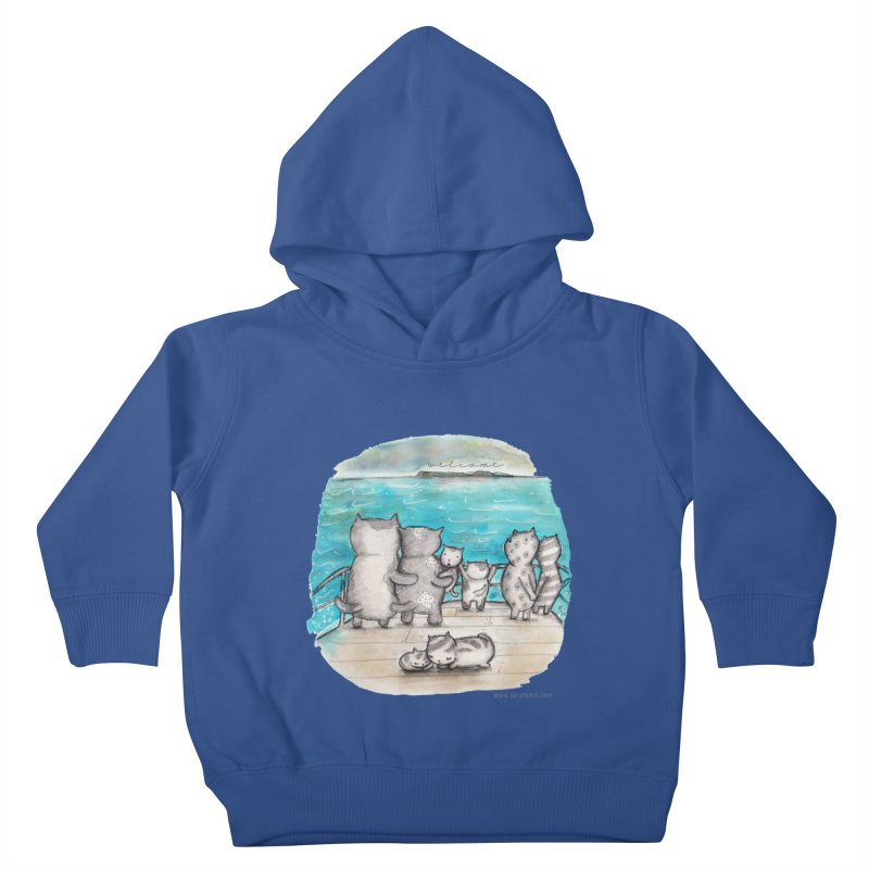 Welcome Refugees Kids Toddler Pullover Hoody by caratoons's Shop