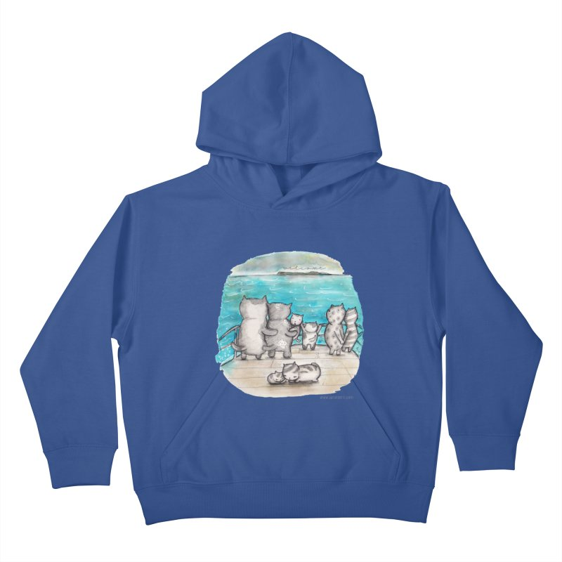 Welcome Refugees Kids Pullover Hoody by caratoons's Shop
