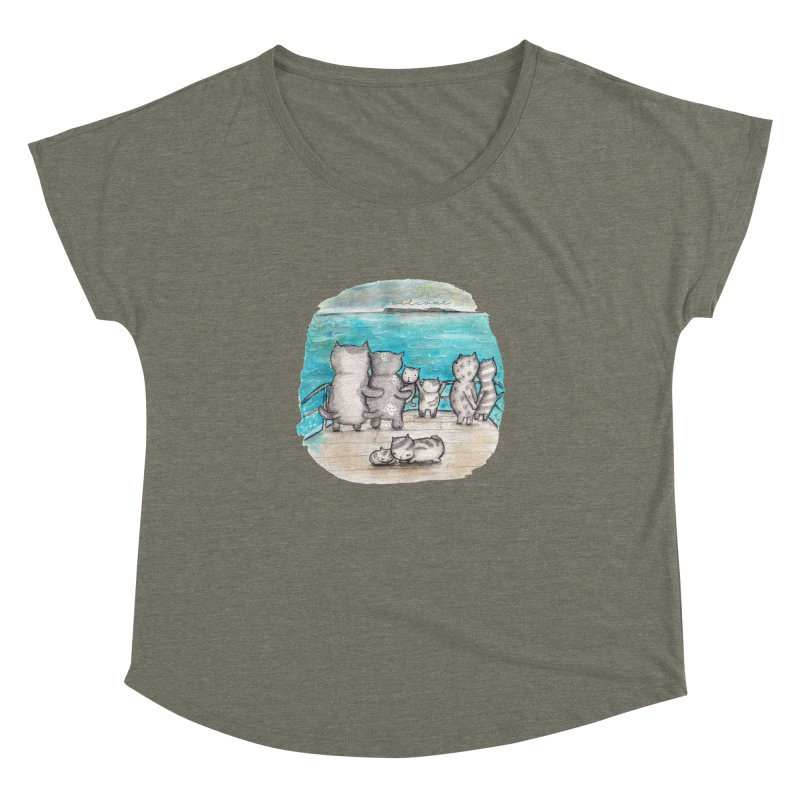 Welcome Refugees Women's Dolman Scoop Neck by caratoons's Shop