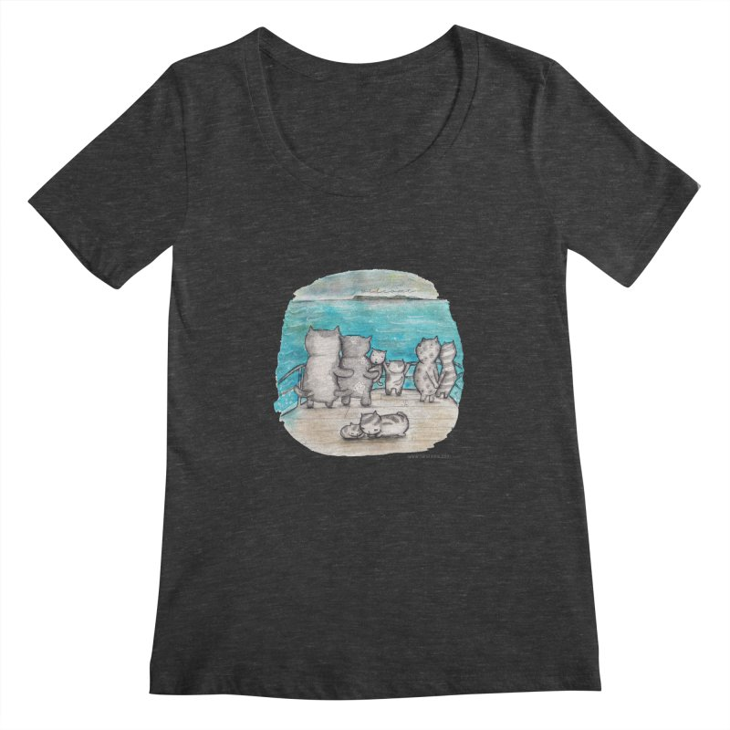Welcome Refugees Women's Scoopneck by caratoons's Shop