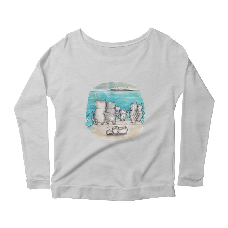 Welcome Refugees Women's Longsleeve Scoopneck  by caratoons's Shop