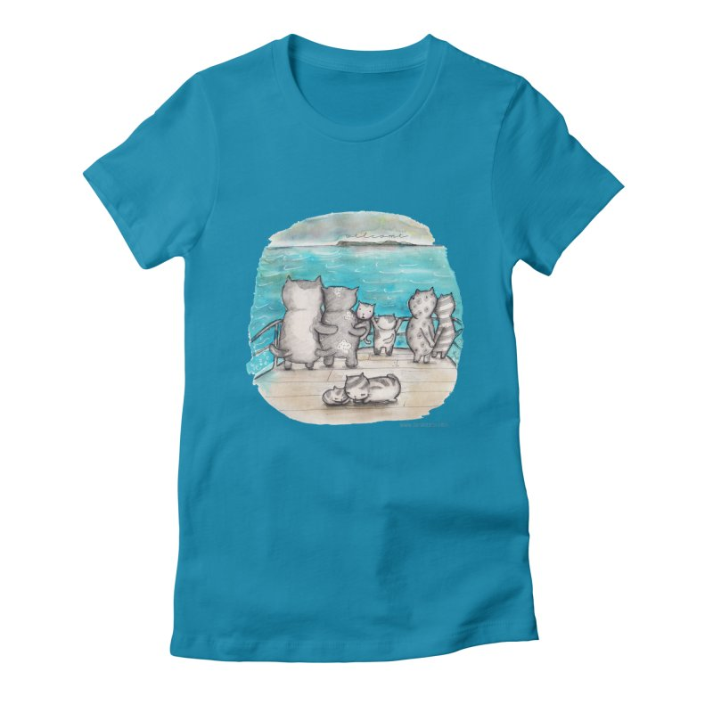 Welcome Refugees Women's Fitted T-Shirt by caratoons's Shop