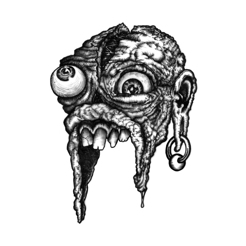 Zombie Head I by Carden Illustration