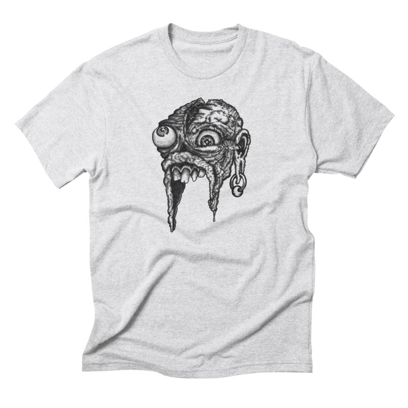 Zombie Head I Men's Triblend T-shirt by Carden Illustration