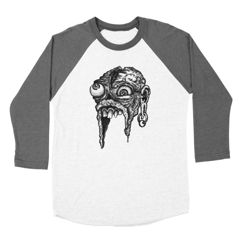 Zombie Head I Women's Baseball Triblend Longsleeve T-Shirt by Carden Illustration