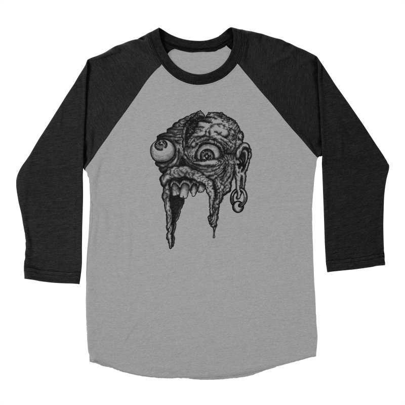 Zombie Head I Men's Baseball Triblend Longsleeve T-Shirt by Carden Illustration