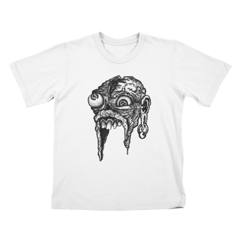 Zombie Head I Kids T-Shirt by Carden Illustration
