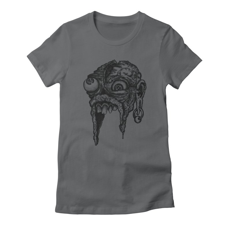 Zombie Head I Women's Fitted T-Shirt by Carden Illustration