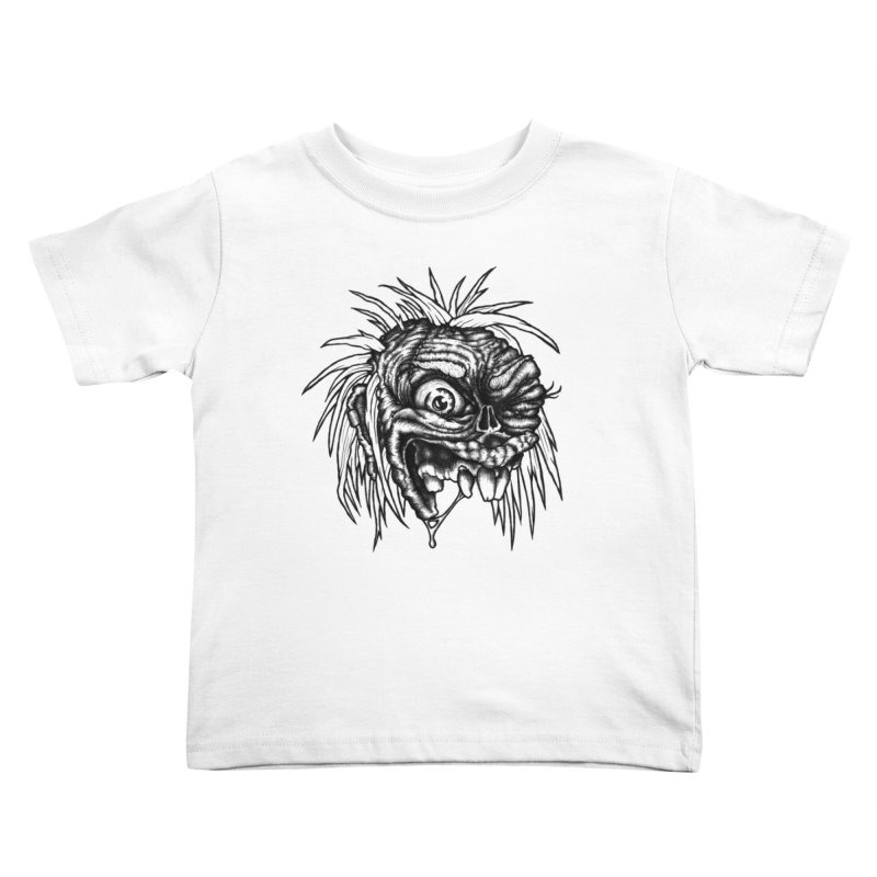 Zombie Head II Kids Toddler T-Shirt by Carden Illustration