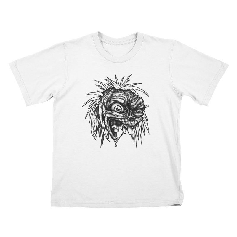 Zombie Head II Kids T-Shirt by Carden Illustration