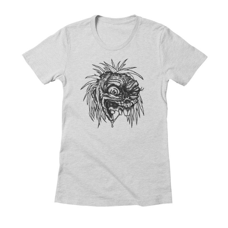 Zombie Head II Women's T-Shirt by Carden Illustration