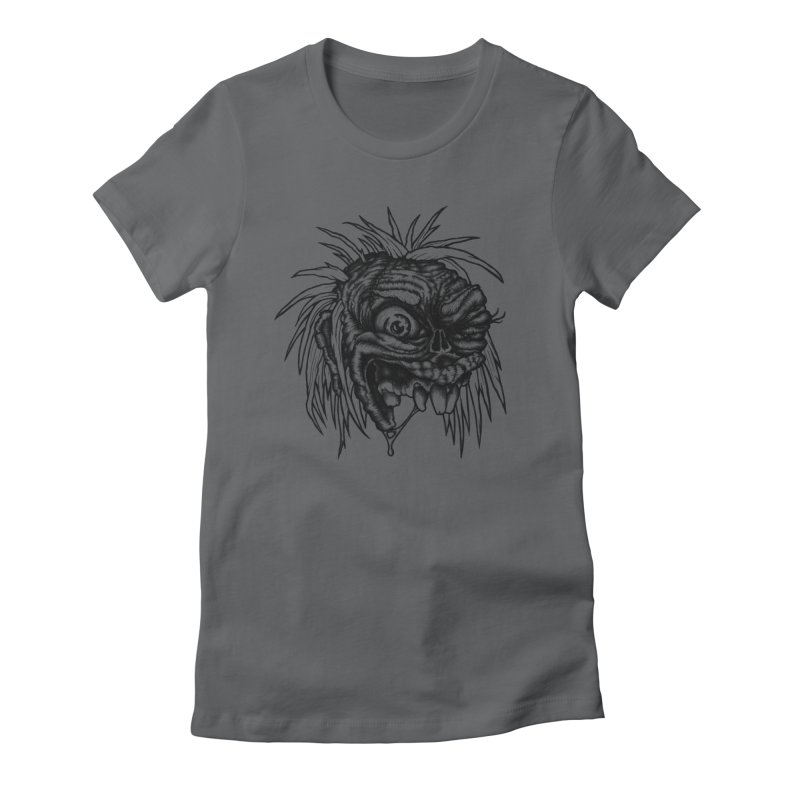 Zombie Head II Women's Fitted T-Shirt by Carden Illustration