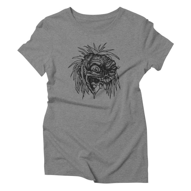 Zombie Head II Women's Triblend T-Shirt by Carden Illustration