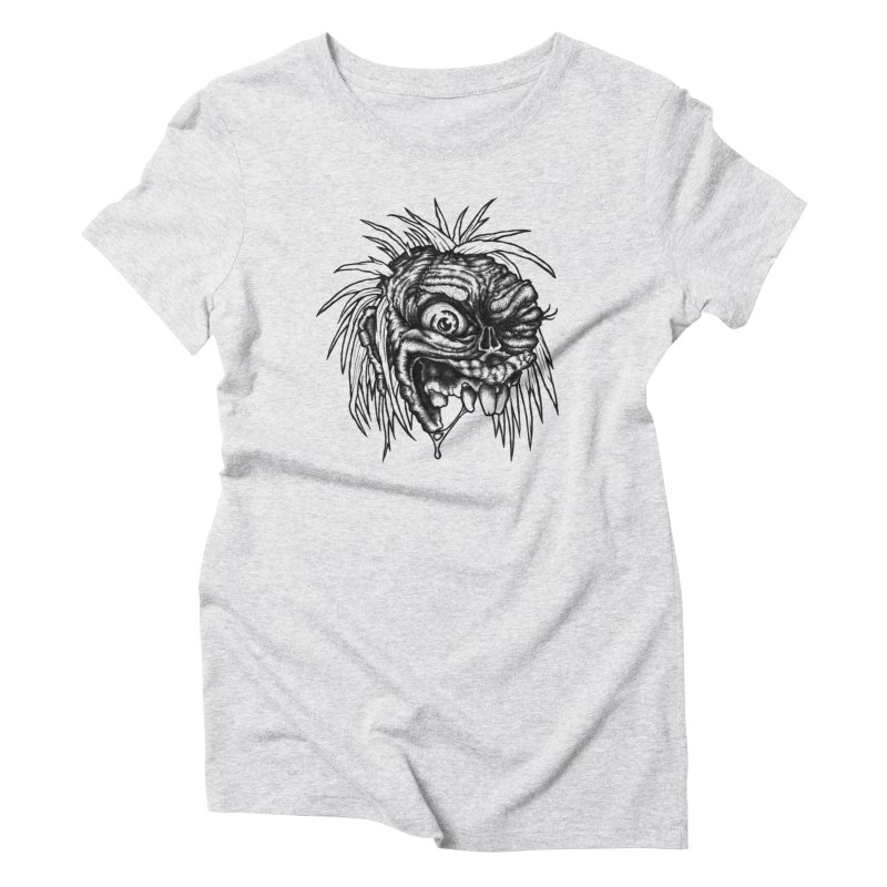 Zombie Head II Women's Triblend T-shirt by Carden Illustration
