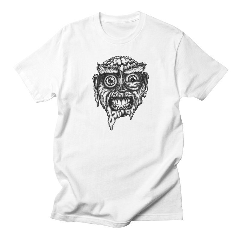 Zombie Head III Men's T-Shirt by Carden Illustration