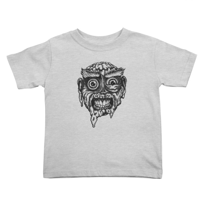 Zombie Head III Kids Toddler T-Shirt by Carden Illustration