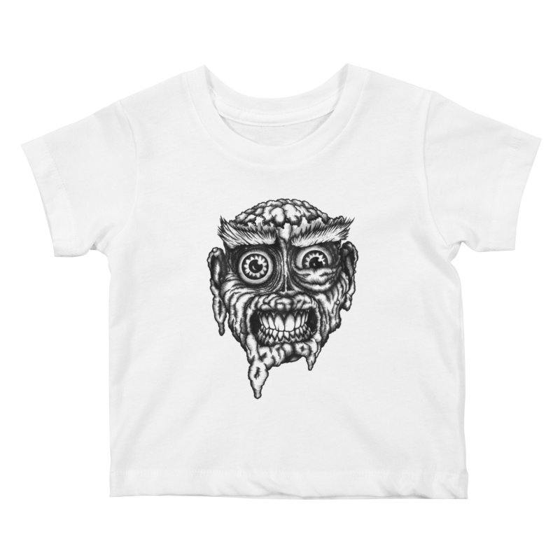 Zombie Head III Kids Baby T-Shirt by Carden Illustration