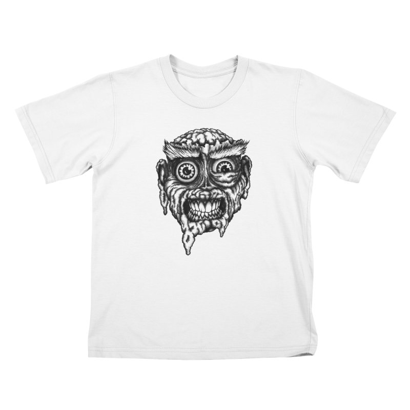 Zombie Head III Kids T-Shirt by Carden Illustration