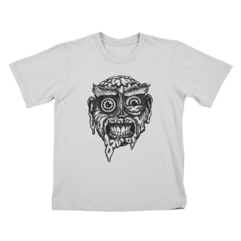 Zombie Head III Kids T-Shirt by Carden Illustration