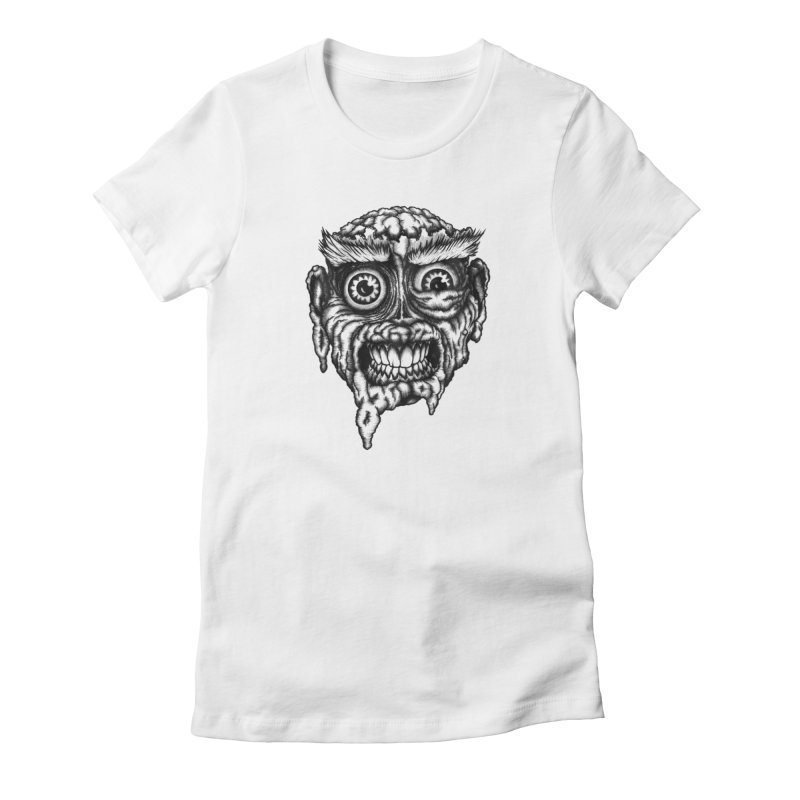 Zombie Head III Women's T-Shirt by Carden Illustration