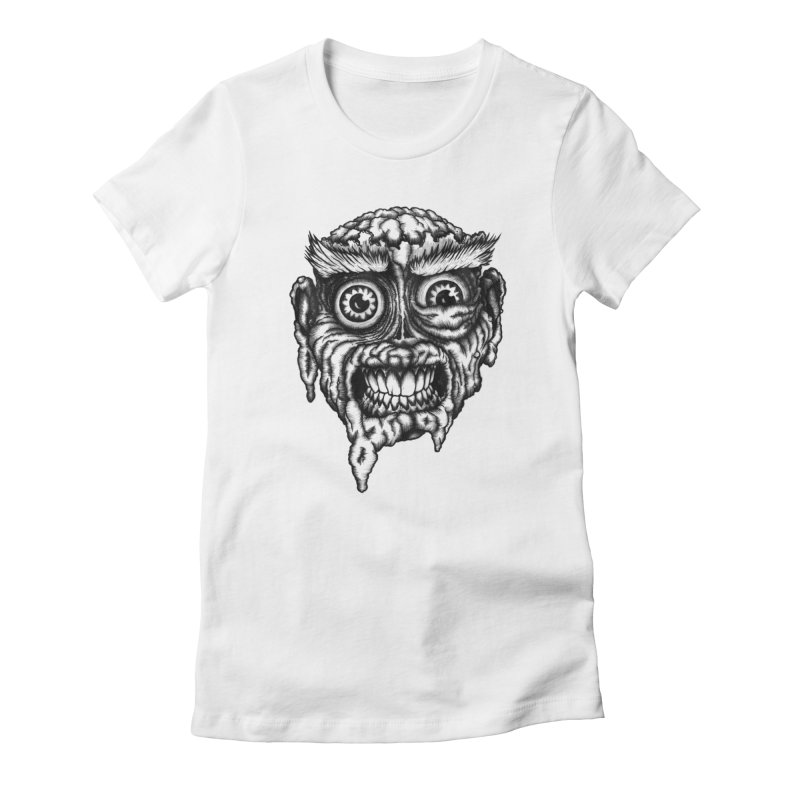 Zombie Head III Women's Fitted T-Shirt by Carden Illustration