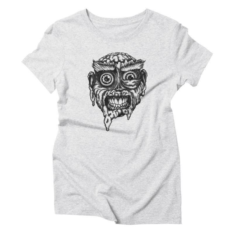 Zombie Head III Women's Triblend T-shirt by Carden Illustration