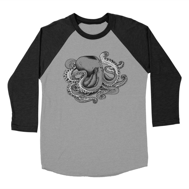 Octopus Men's Baseball Triblend T-Shirt by Carden Illustration