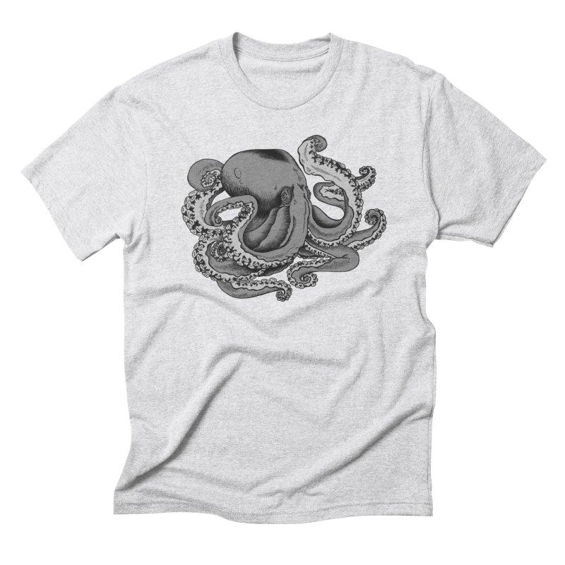 Octopus Men's Triblend T-shirt by Carden Illustration