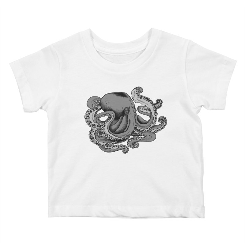 Octopus Kids Baby T-Shirt by Carden Illustration