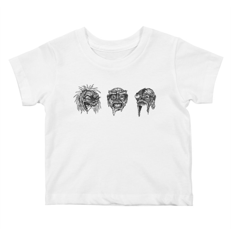 Zombies! Kids Baby T-Shirt by Carden Illustration