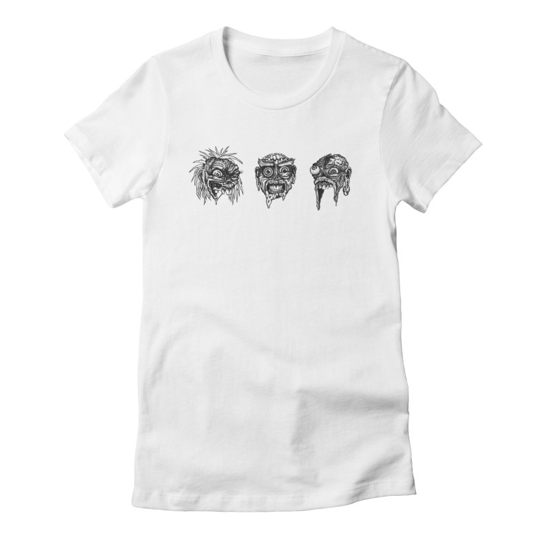 Zombies! Women's Fitted T-Shirt by Carden Illustration