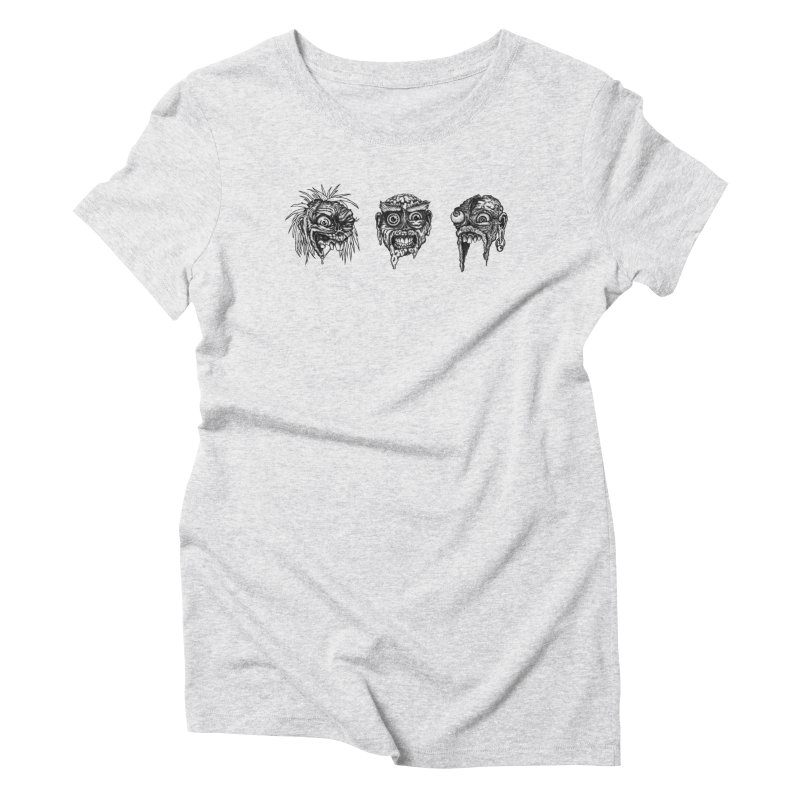 Zombies! Women's Triblend T-shirt by Carden Illustration