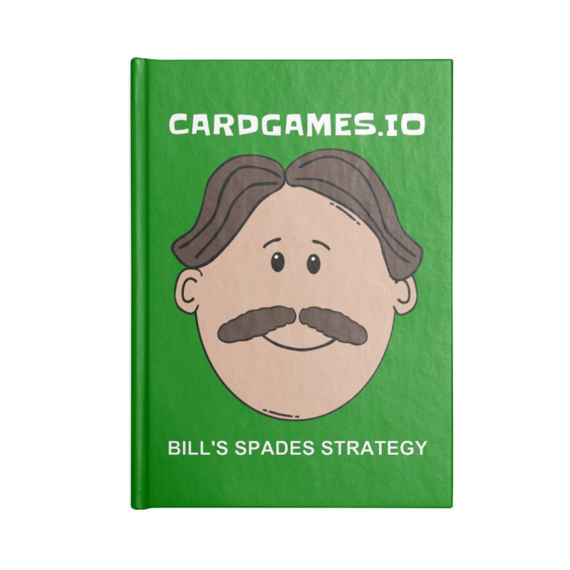 Bill's Spades Strategy Accessories Notebook by CardGames.io Merchandise