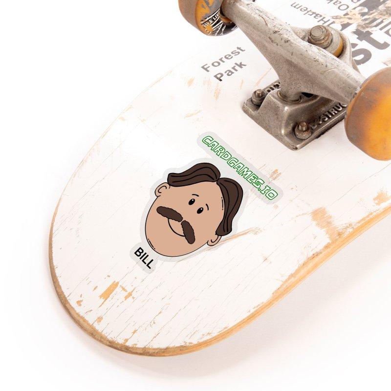 AdBlocking Sticker - Bill's Face Accessories Sticker by CardGames.io Merchandise
