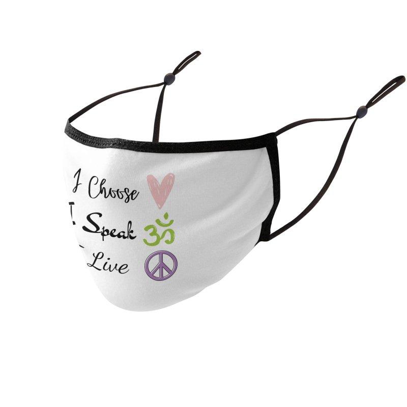 Love. OM. Peace. Accessories Face Mask by C.A.R.E. Gear! by C.A.R.E. Holistic Center