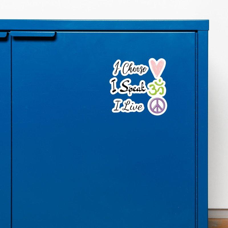 Love. OM. Peace. Accessories Magnet by C.A.R.E. Gear! by C.A.R.E. Holistic Center