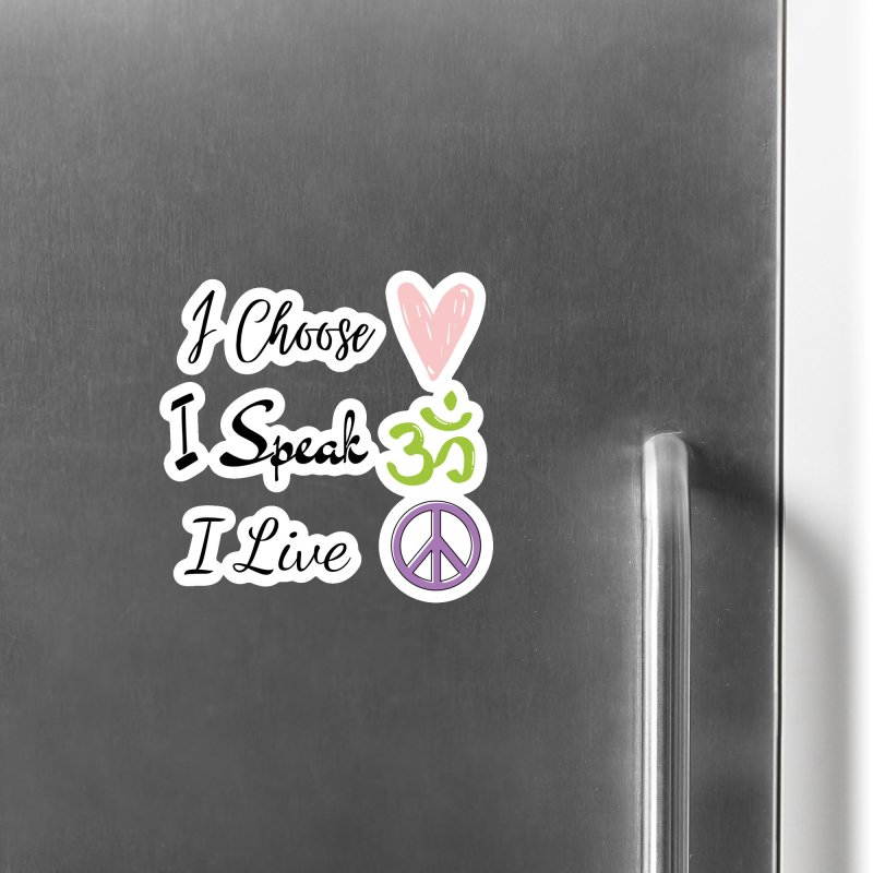 Love. OM. Peace. Accessories Magnet by C.A.R.E. Gear! by C.A.R.E. Holistic Center