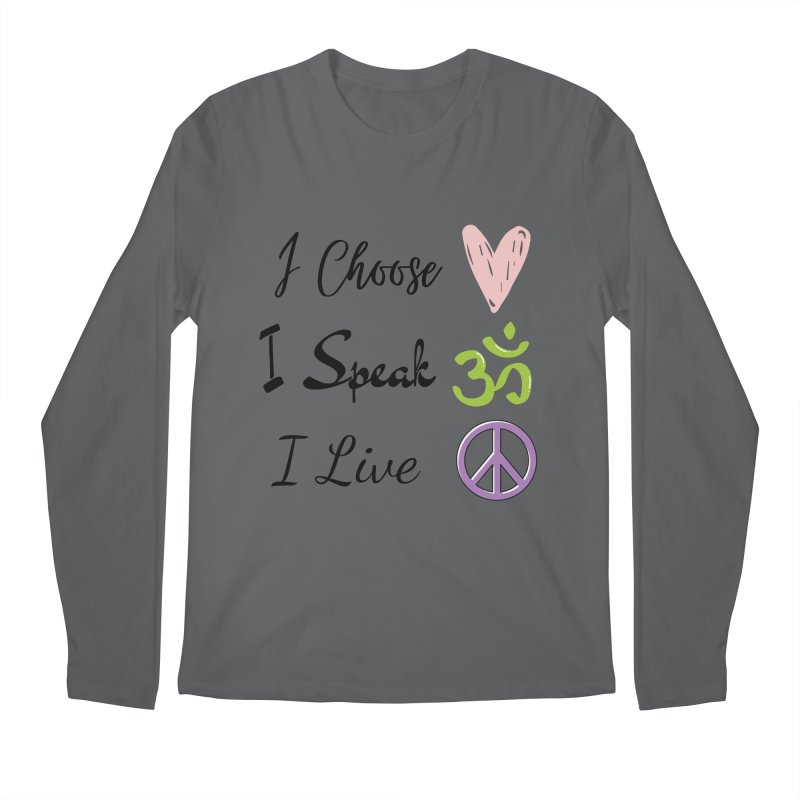 Love. OM. Peace. Men's Longsleeve T-Shirt by C.A.R.E. Gear! by C.A.R.E. Holistic Center