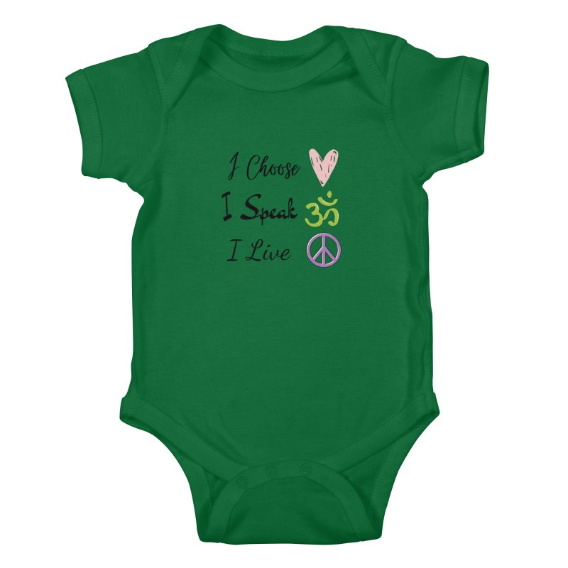 Love. OM. Peace. Kids Baby Bodysuit by C.A.R.E. Gear! by C.A.R.E. Holistic Center