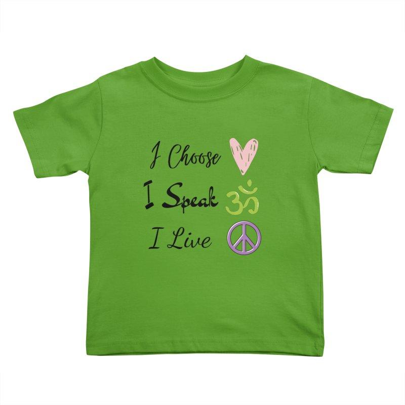 Love. OM. Peace. Kids Toddler T-Shirt by C.A.R.E. Gear! by C.A.R.E. Holistic Center