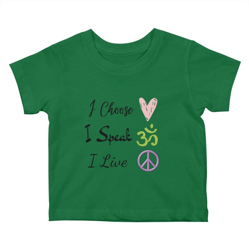 Love. OM. Peace. Kids Baby T-Shirt by C.A.R.E. Gear! by C.A.R.E. Holistic Center