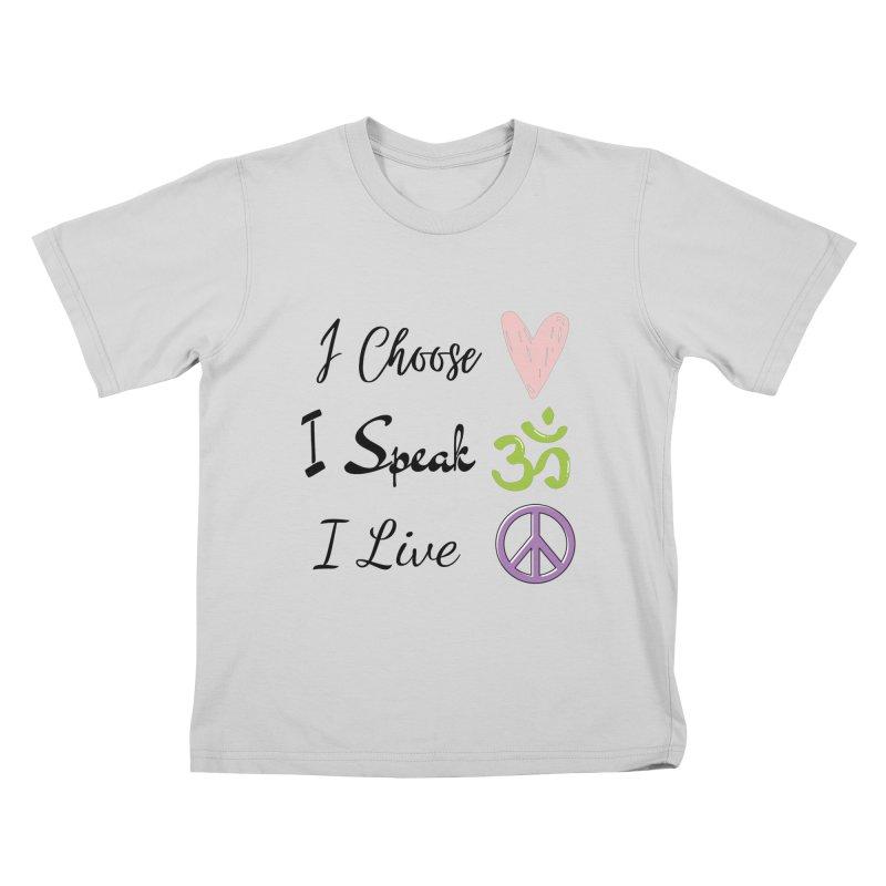 Love. OM. Peace. Kids T-Shirt by C.A.R.E. Gear! by C.A.R.E. Holistic Center
