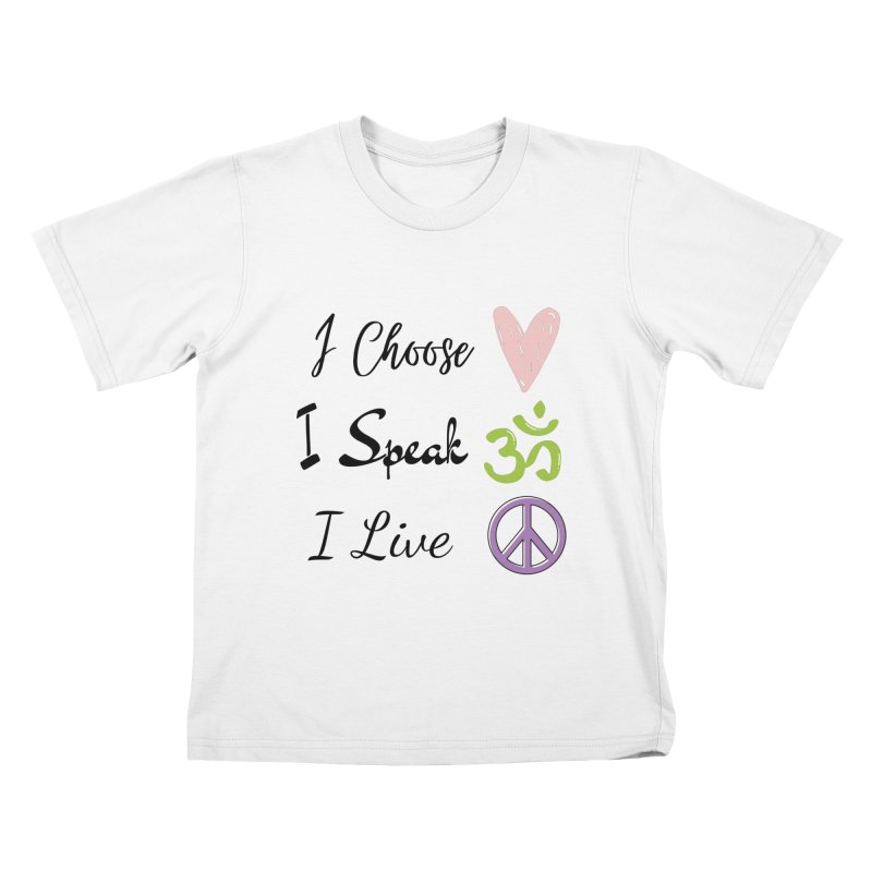 Love. OM. Peace. Kids T-Shirt by C.A.R.E. Gear! by C.A.R.E. Holistic Center