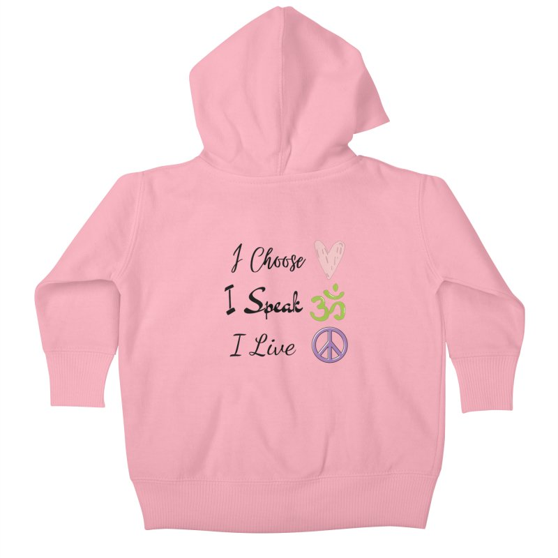 Love. OM. Peace. Kids Baby Zip-Up Hoody by C.A.R.E. Gear! by C.A.R.E. Holistic Center