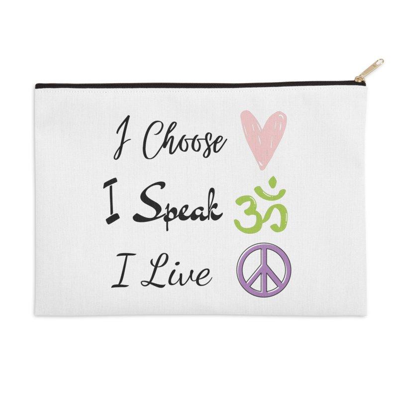 Love. OM. Peace. Accessories Zip Pouch by C.A.R.E. Gear! by C.A.R.E. Holistic Center