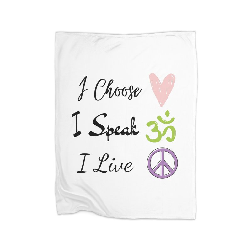 Love. OM. Peace. Home Blanket by C.A.R.E. Gear! by C.A.R.E. Holistic Center