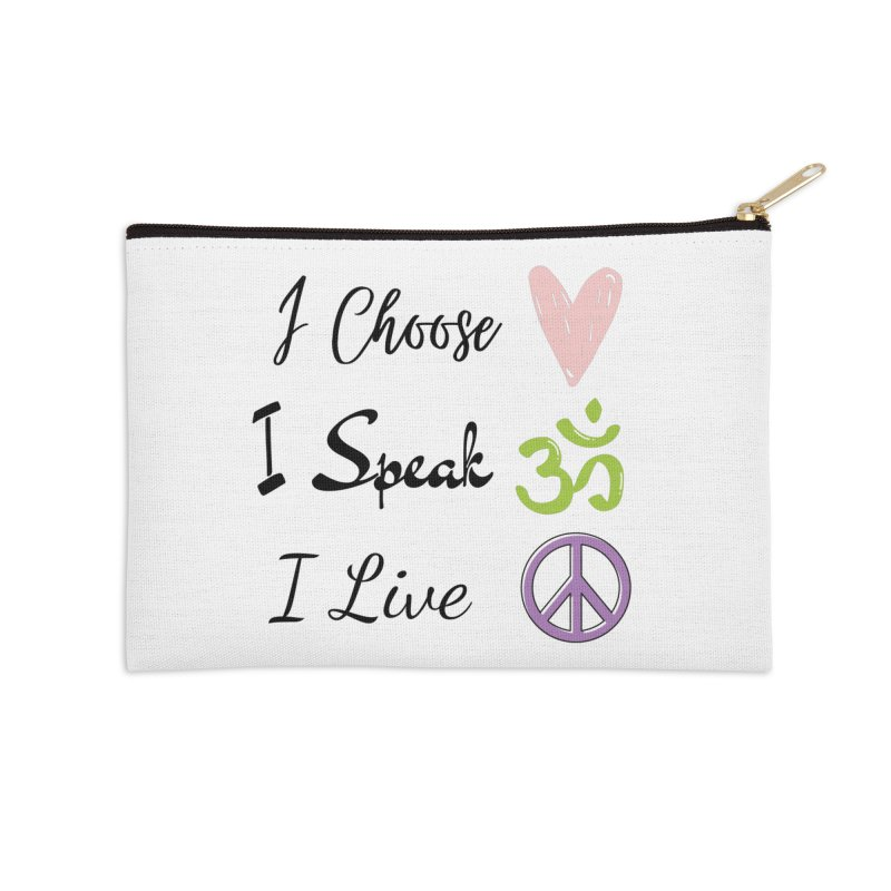 Love. OM. Peace. Accessories Zip Pouch by C.A.R.E. Gear! by C.A.R.E. Holistic Center