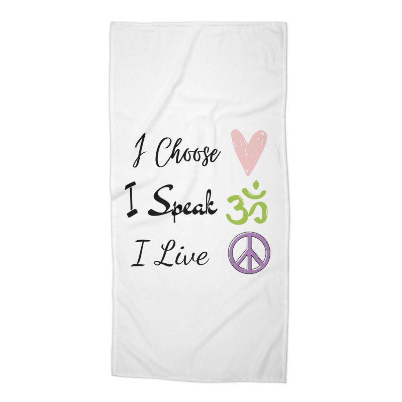 Love. OM. Peace. Accessories Beach Towel by C.A.R.E. Gear! by C.A.R.E. Holistic Center
