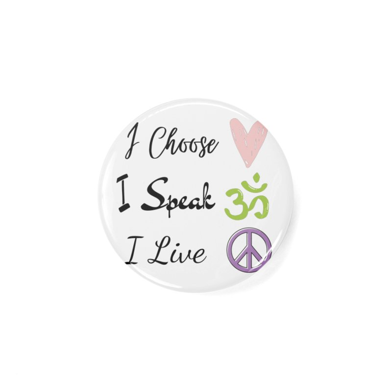 Love. OM. Peace. Accessories Button by C.A.R.E. Gear! by C.A.R.E. Holistic Center